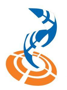 Malli Juha Kytömaan suunnittelemasta juhlavuoden logosta.