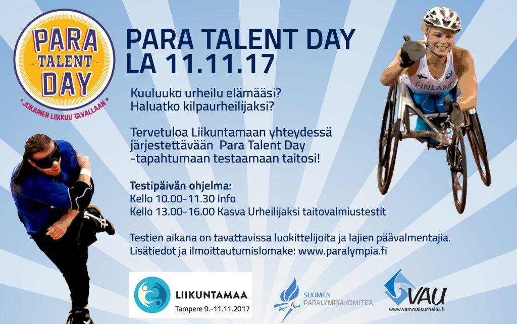 Ensimmäinen Para Talent Day Tampereella 11. marraskuuta – Suomen Ampumaurheiluliitto ry