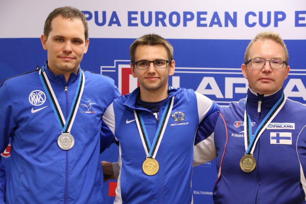 Teemu Lahti podium vakiopistooli Tallinna
